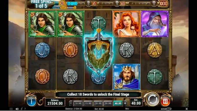 the sword and the grail slot review