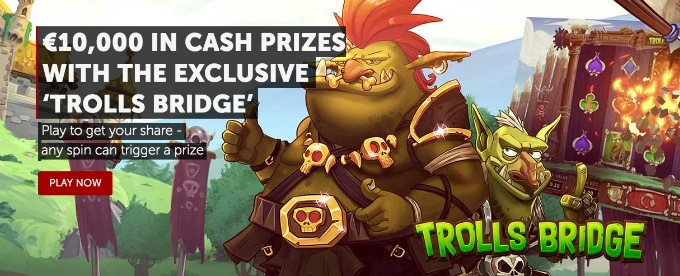 Play Trolls Bridge at Betsafe and win a share of €10K