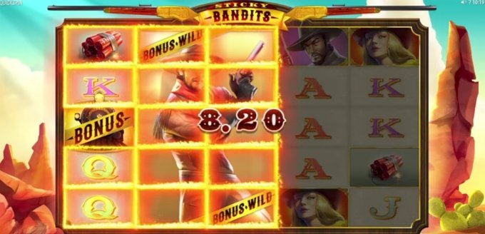 Sticky Bandits slot from Quickspin