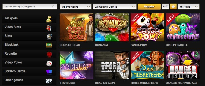 Play over 2000 casino games and slots here
