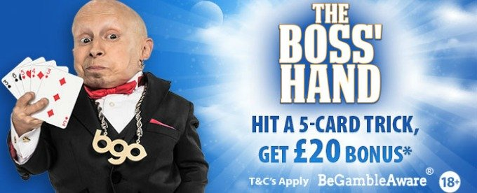 Get £20 bonus by beating Bgo boss' hand