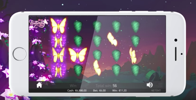 Play Butterfly Staxx slot at Mr Green casino