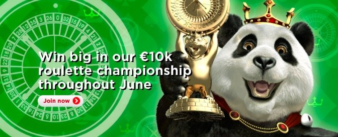 Win 10K at Royal Panda Roulette Championship