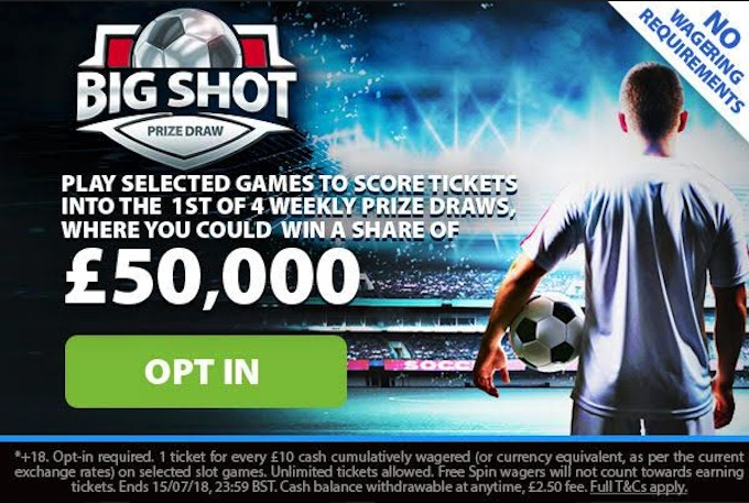 bgo Big Shot prize draw