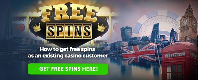 get free spins for existing players