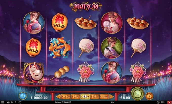 Play Matsuri slot at Casumo casino from 23rd March 2017
