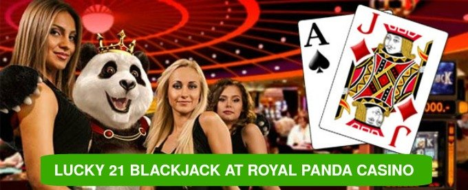 Win €210 at Lucky 21 Royal Panda Blackjack