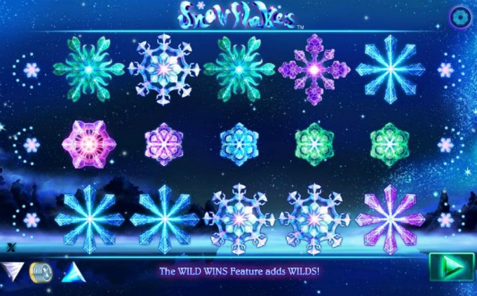 Play Snowflakes slot at Dunder Casino