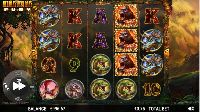 King Kong fury slot basegame