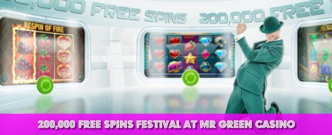 Win 50 free spins at Mr Green casino