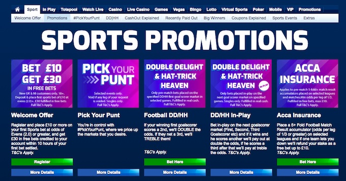 Betfred Sports Promotions