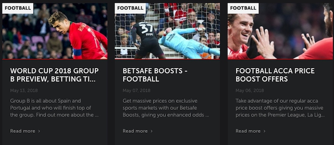 Betsafe Football offers
