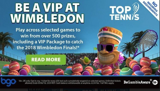 Read more about bgo casino's Wimbledon Promotion