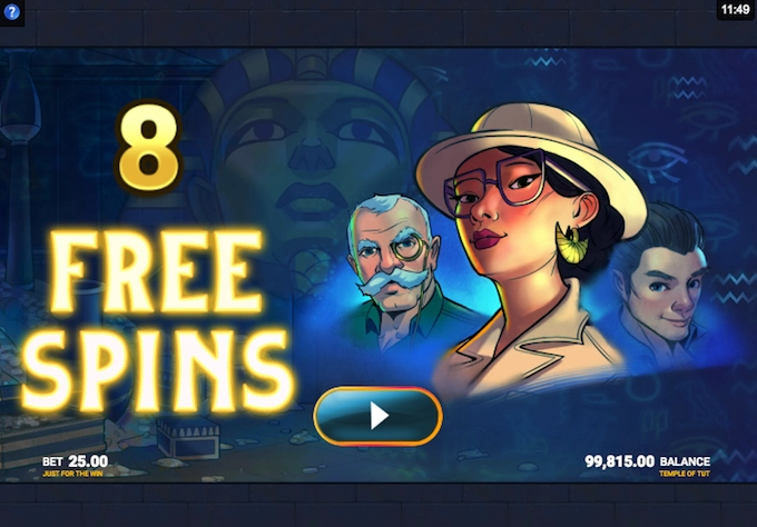Temple of Tut slot free spins