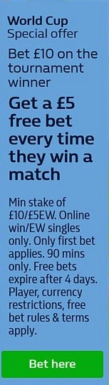 William Hill World Cup offer