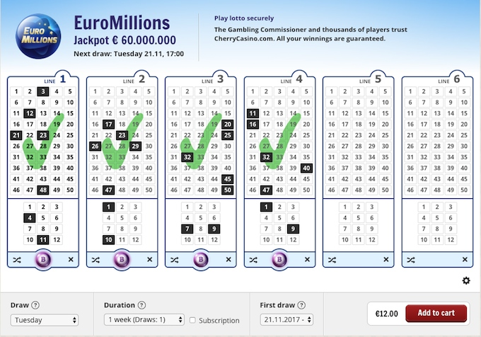 Play EuroMillions lottery