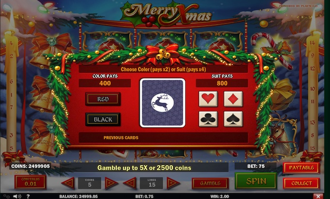 Merry Xmas gamble feature