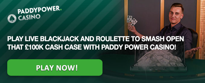 Paddy Power Live Casino Promotion