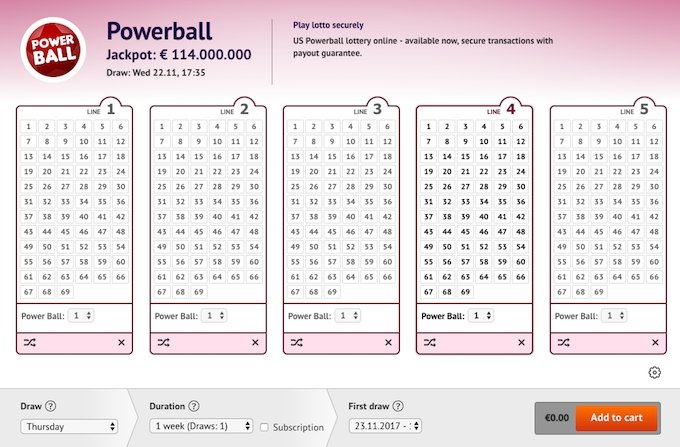 Buy Powerball tickets now!
