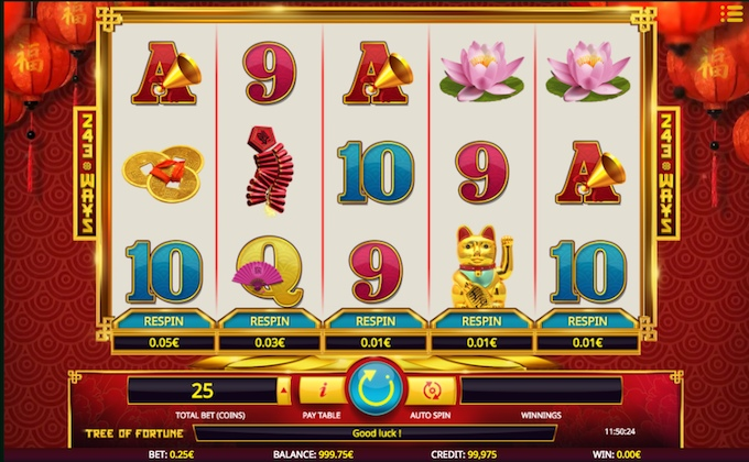 Tree of Fortune slot reels