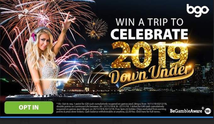 Click here to opt-in for the bgo New Year promotion