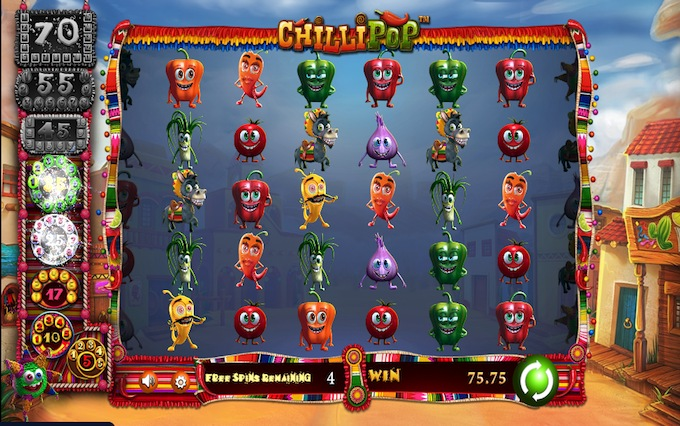 Chillipop slot free spins