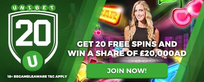Unibet Casino - win cash and free spins
