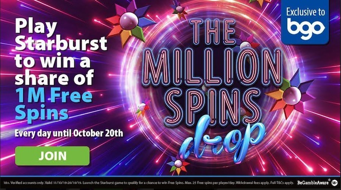 The Million Spins Drop by BGO