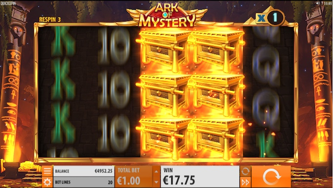 Ark of Mystery slot respins