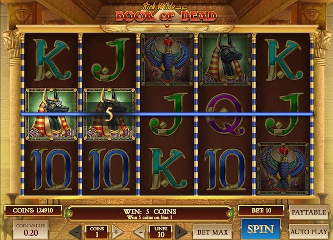 Book of Dead slot payouts