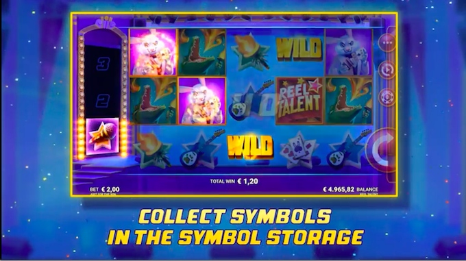 Reel Talent symbol storage feature