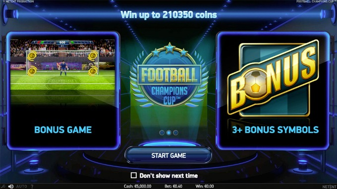 Play Football: Champions Cup slot on InstaCasino