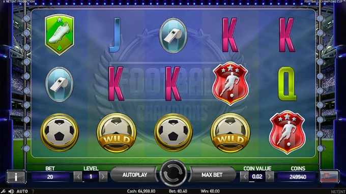 Play Football: Champions Cup slot on Betsafe Casino