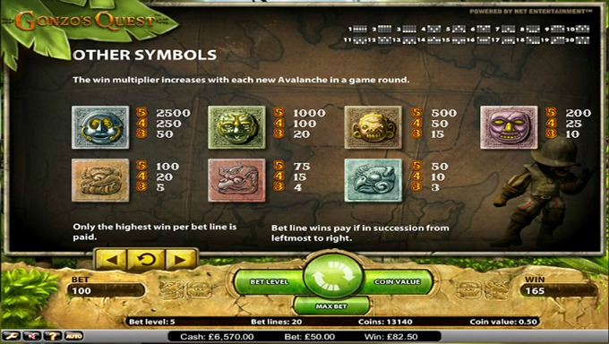 Play Gonzo's Quest slot on Casumo casino