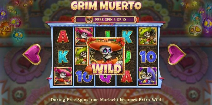 Play Grim Muerto slot at Betsafe casino