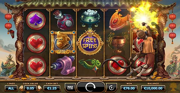 Play Legend of the Golden Monkey slot on Videoslots casino