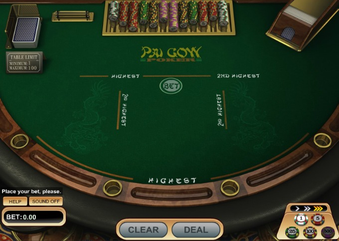Play Pai Gow at Dunder casino