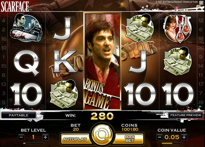 Play Scarface at LeoVegas casino