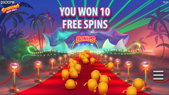 Play Spinions slot at Rizk casino