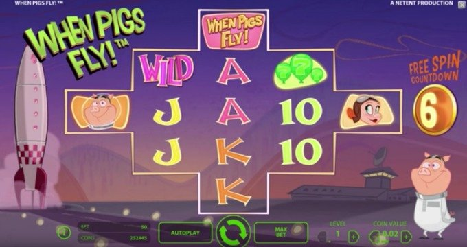 Play When Pigs Fly slot at LeoVegas casino