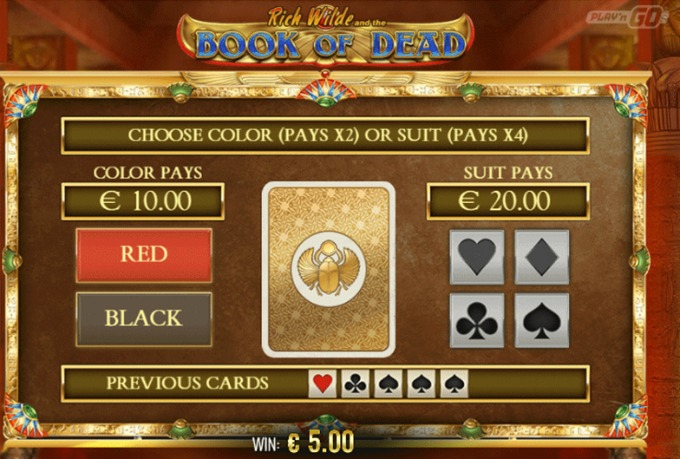Play Book of Dead slot at Rizk casino