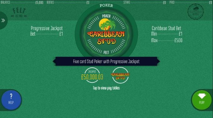 Play Caribbean Stud Poker at Betsafe casino