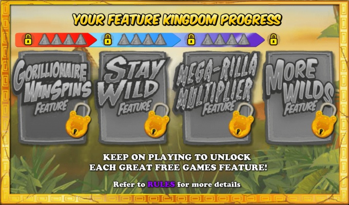 Gorilla Go Wild slot features