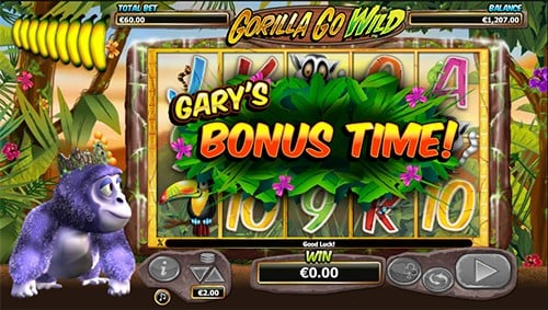 Play Gorilla Go Wild and get welcome bonus on Mr Green casino