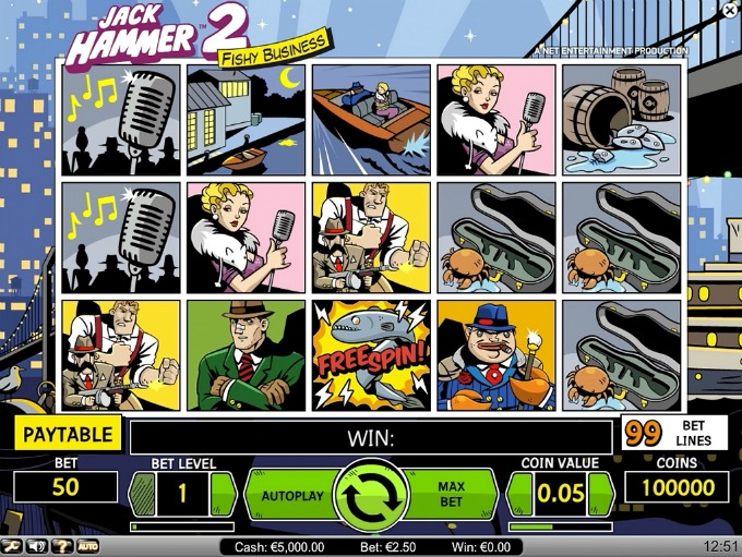 Play Jack Hammer 2 slot at LeoVegas casino