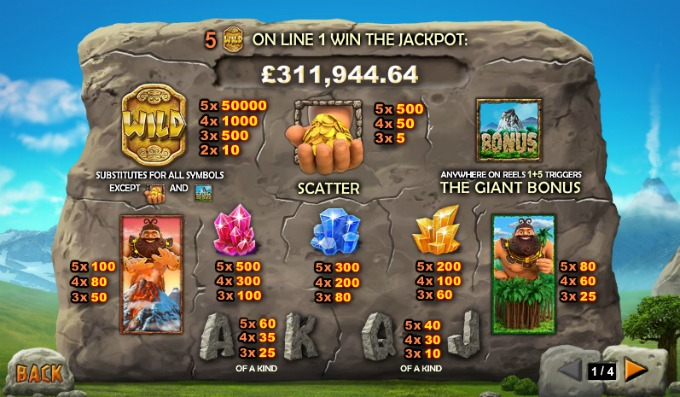 Play Jackpot Giant at Bet365 casino