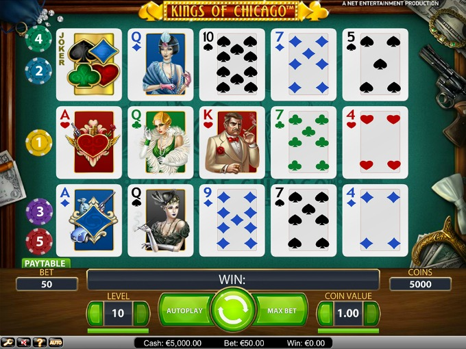 Play Kings of Chicago slot at Casumo casino