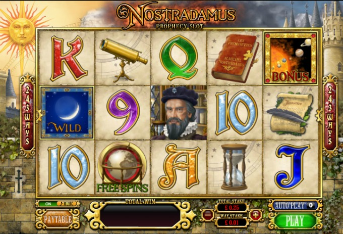Play Nostradamus slot at Bet365 casino