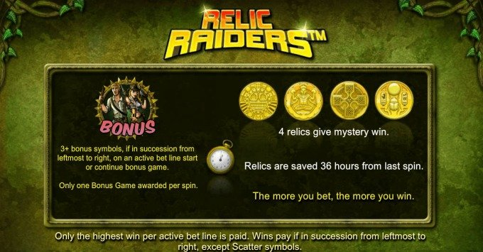 Play Relic Raiders slot at Dunder Casino