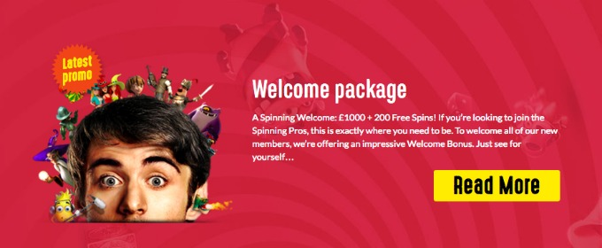 Spinit welcome offer